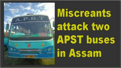 Photo of Miscreants attack two APST buses in Assam