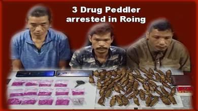 Photo of Arunachal: Roing Anti-Drug Squad arrested 3 drug peddler