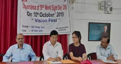 Arunachal: World Sight Day-2019 Observed in Lohit