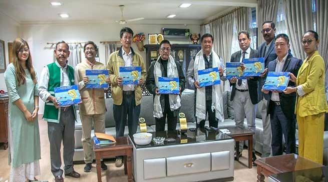Itanagar: Khandu releases Coffee Table Book 'Glimpses of Fisheries in Arunachal Pradesh'