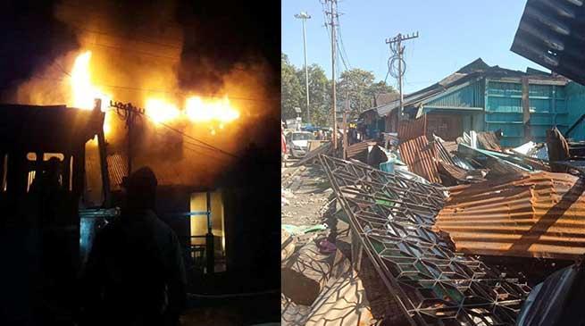 Arunachal: 5 shops gutted, 4 damaged in fire in Tezu