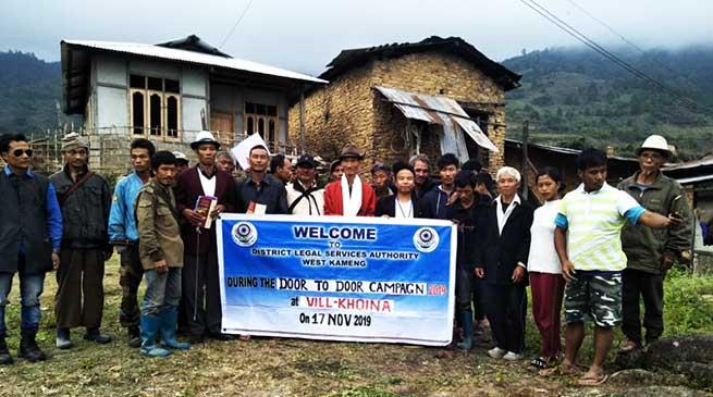 Bomdila: DLA West kameng conducts door to door legal awareness campaign