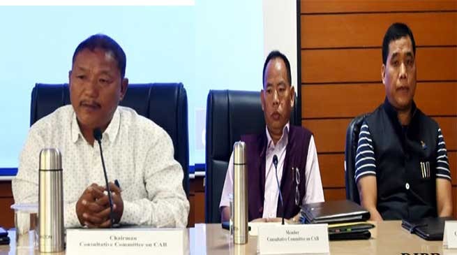 Arunachal: Consultative Committee completes hearing on CAB