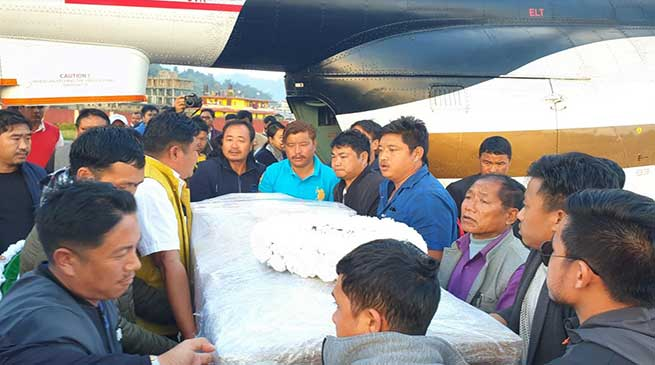 Arunachal: Body of late Mepung Cheda brought back