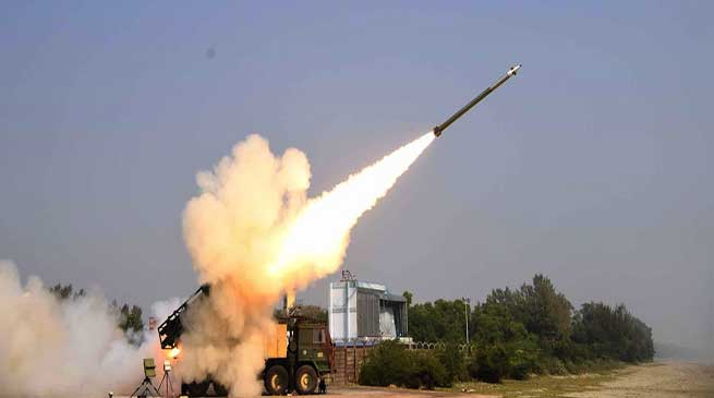 DRDO Successfully Test-Fires of Pinaka missile