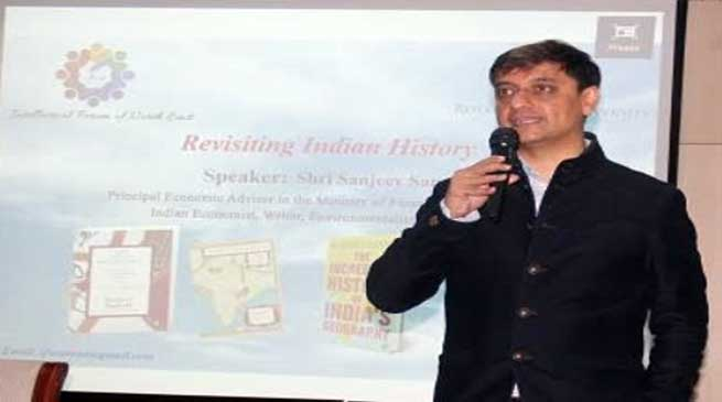 Assam: Sanjeev Sanyal visited Royal Global University (RGU)