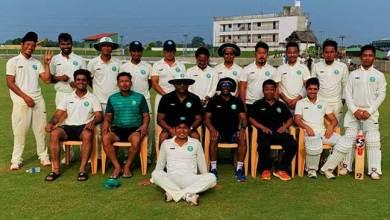 Arunachal played with Mizoram in Ranji Test match