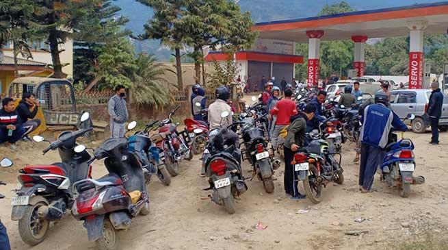 Itanagar: Fuel crisis in capital Complex continue