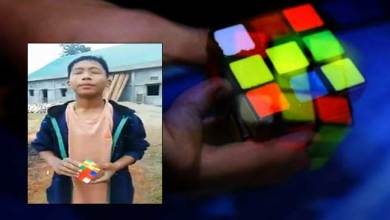 Photo of Arunachal boy solves Rubik's cube with closed eyes. Video goes Viral in twitter