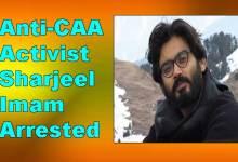 Photo of Anti-CAA Activist Sharjeel Imam Arrested