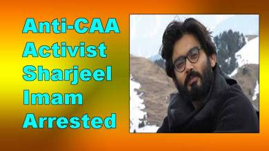 Photo of Anti-CAA Activist Sharjeel Imam Arrested