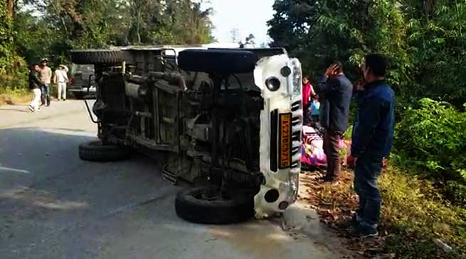Arunachal: 1 dead, 19 injured in road accident near Tengapani