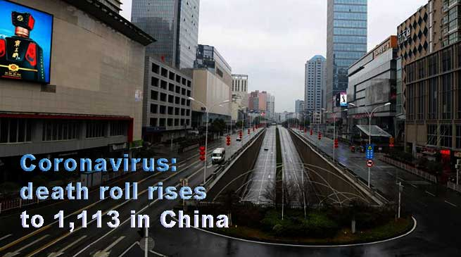 Coronavirus: death roll rises to 1,113, new suspected cases in China
