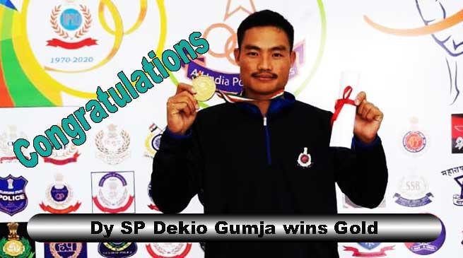 All India Police Badminton Championship: Dy SP Dekio Gumja wins Gold