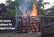 Photo of Arunachal: Mortal remains of Subhanso Pul consigned to flame