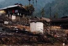 Photo of 6 dwelling houses gutted in fire mishap at Rina village in Lower Siang
