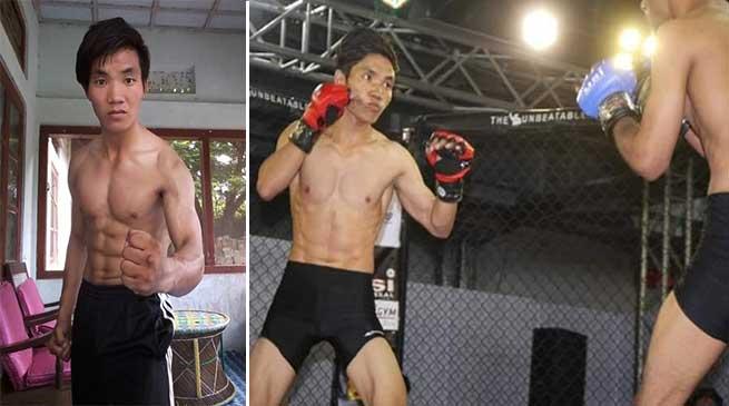 Arunachal: MMA fighter Taluk Hili selected for training at Bangkok