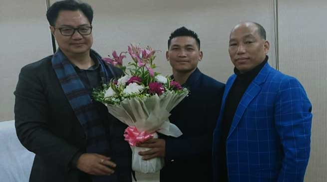 Rijiju assures for all possible support to promote Para Sports in the state- Techi Sonu