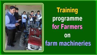 Arunachal: Training programme for Farmers on farm machineries