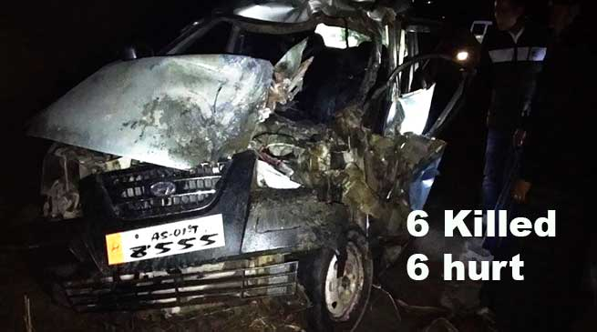 Arunachal: 6 Killed, 6 hurt as Santro car met with an accident
