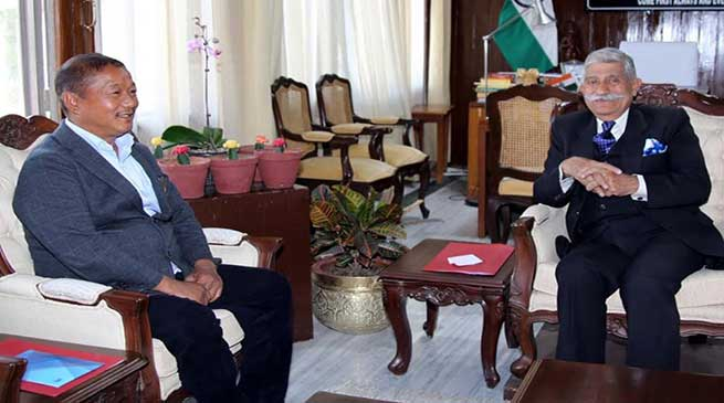 Arunachal: State Home Minister calls on the Governor