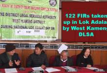 Photo of Arunachal: 122 non FIRs taken up in Lok Adalat by West Kameng DLSA