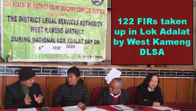 Photo of Arunachal: 122 non FIRs taken up in Lok Adalat by West Kameng DLSA