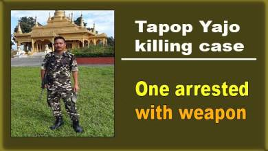 Photo of Tapop Yajo's killing case: One arrested with weapon