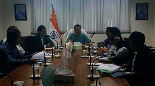 Arunachal: Chowna Mein reviewes the status of Miao to Vijoynagar PMGSY road