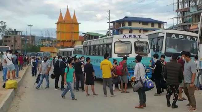 Arunachal: More than 300 people stranded in capital region left for their destinations