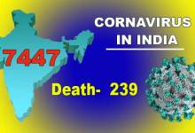 Photo of Coronavirus (COVID-19) status in India: Cases rise to 7447, death 239