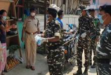 Coronavirus Crisis: CRPF distributes mask, sanitizers and sanitizes streets