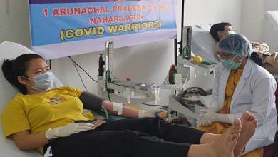 Photo of NCC cadets donated 17 units of blood to TRIHMS (Covid-19) Hospital