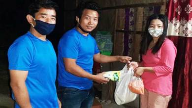 Photo of Nyishi Elite Society distributes ration to stranded students