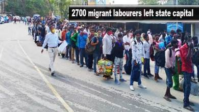 Photo of Itanagar- More than 2700 migrant labourers left state capital within 2 days