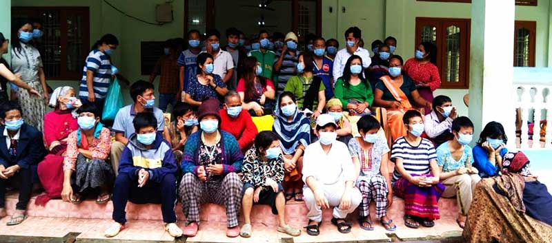 Arunachal: APSCW openly flouting official norms of Social Distancing and mandatory wearing of masks in public