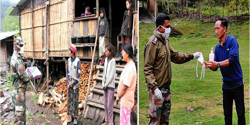 Arunachal: Army distributes Covid-19 prevention kits to the villagers