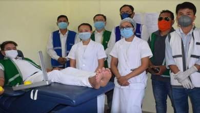 Photo of Arunachal: Members of Galo Welfare Society donate Blood