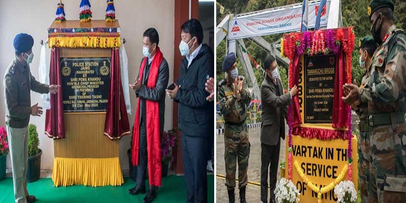 Arunachal: Pema Khandu Inaugurates two bridges over Tawang Chhu River and Sukha Nallah
