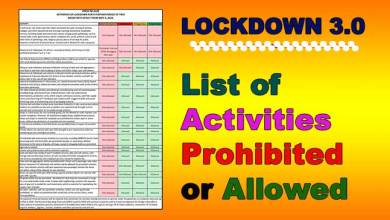 Photo of Lockdown 3.0- Read LIST of activities prohibited/ allowed across the country