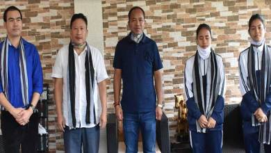 Photo of Arunachal: Natung felicitates medal winners of online national wushu championship