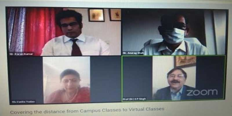 Assam:'Covering the distance from campus classes to virtual classes'