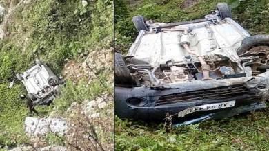 Photo of Arunachal: 1 dead, 3 injured after car falls into deep gorge near Sagalee
