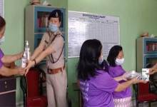 Itanagar- APWWS distributes facemasks, sanitizers, Thermal Scanner to WPS