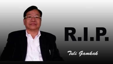 Photo of Arunachal: CoSAAP condoles demise of Tuli Gamkak