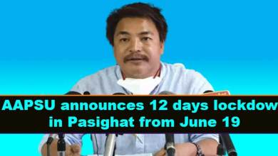 Arunachal fight Covid-19: AAPSU announces 12 days lockdown in Pasighat from June 19