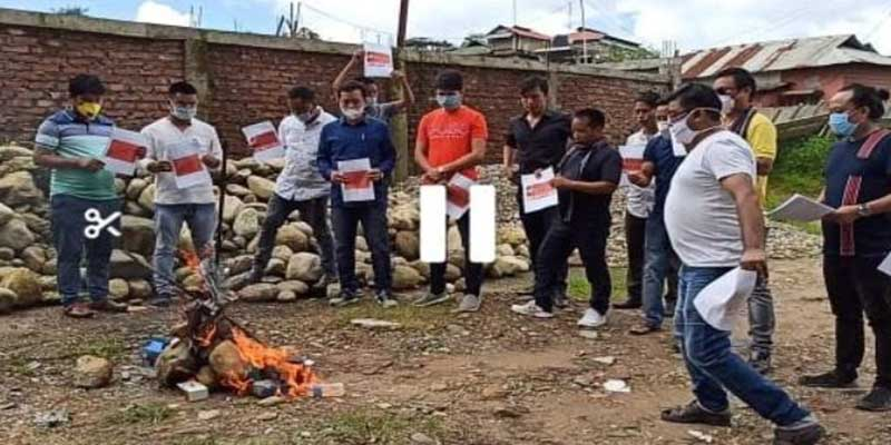 Arunachal: Anti China Protest by ANYA, burn Chinese products