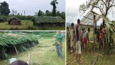 Photo of Arunachal: Villagers Build Quarantine Huts using Bamboo for Returnees