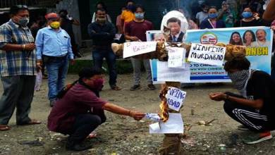Photo of Arunachal- Bharat-Tibet Sahyog Manch protest against China