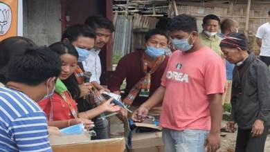 Photo of Arunachal: BJP ST Morcha distributed facemask, hand gloves and sanitizers